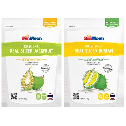 SunMoon Freeze-dried Fruit Slices - Jackfruit   Durian